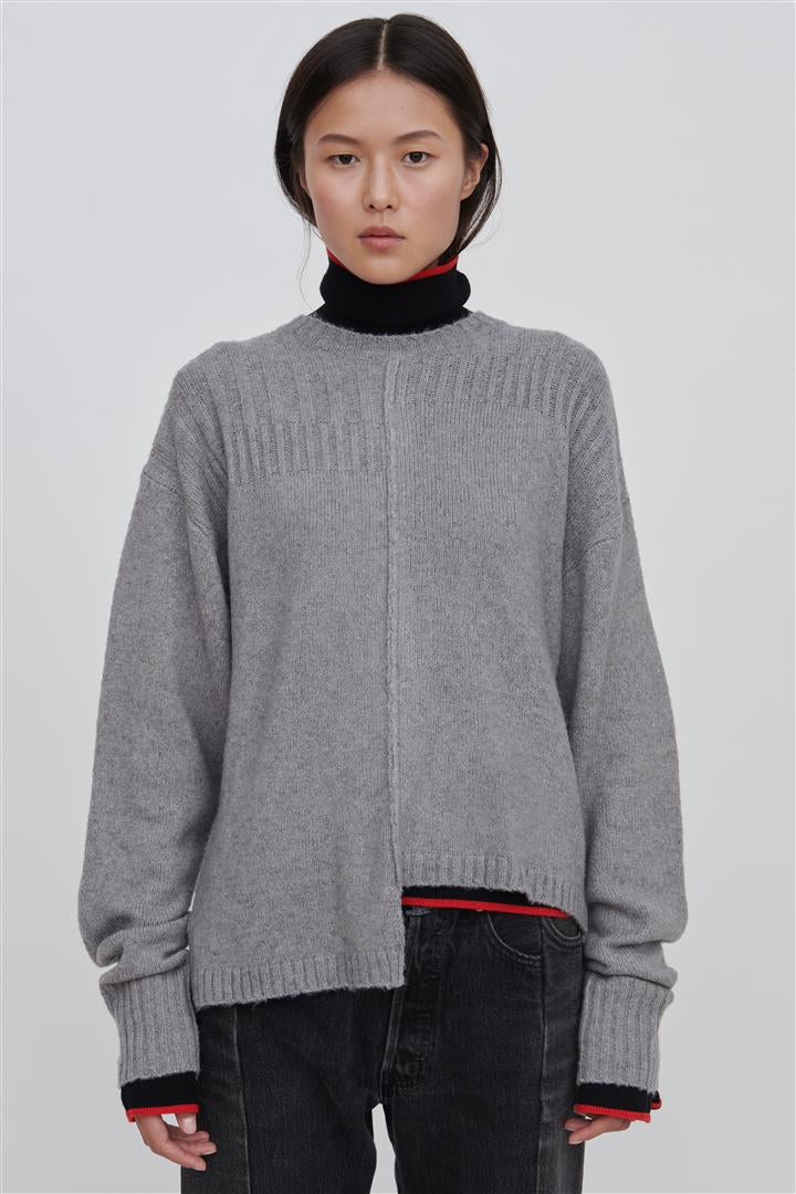 Grey Wool Blend Sweater - Romi