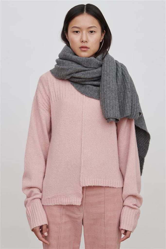 Yeva Grey Wool Blend Wrap