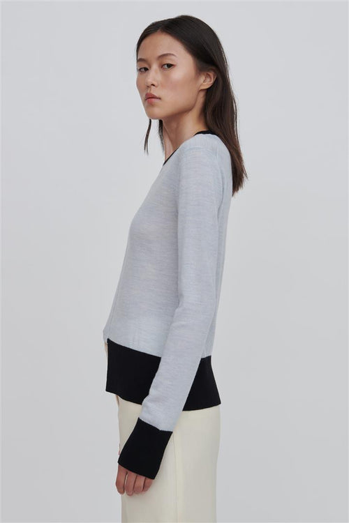 Stephie Fine Merino Wool Sweater Blue