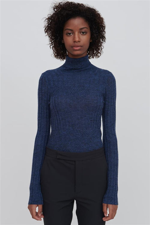 Tori Fine Merino Wool Sweater Blue
