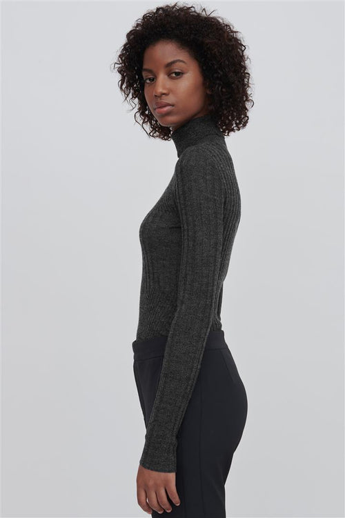 Tori Fine Merino Wool Sweater Grey