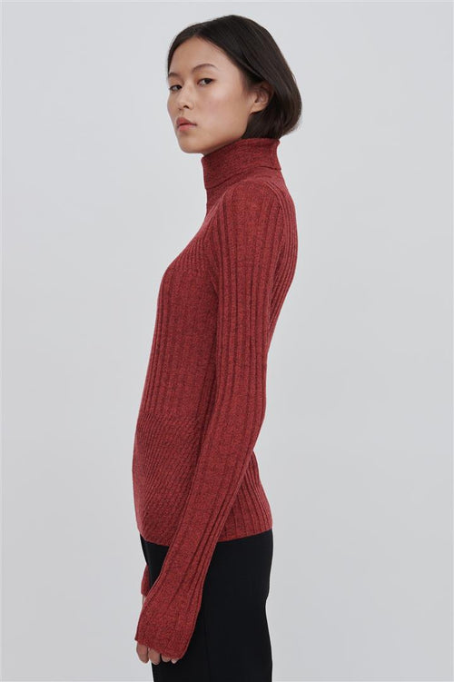 Tori Fine Merino Wool Sweater Red