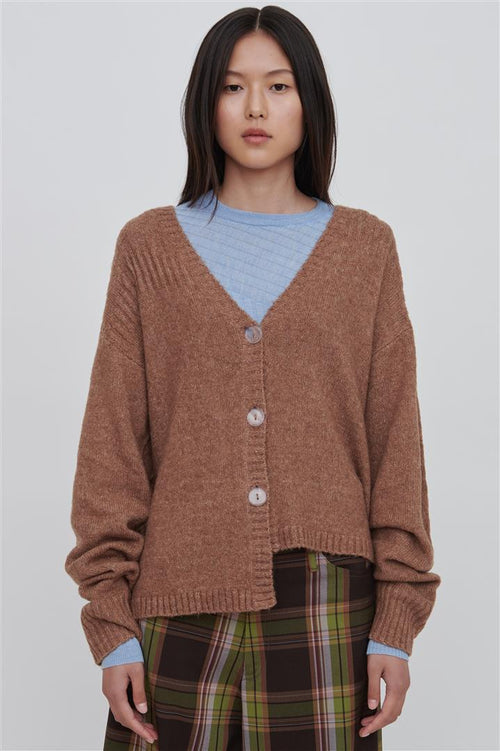 Brown Wool Blend Sweater - Zoe
