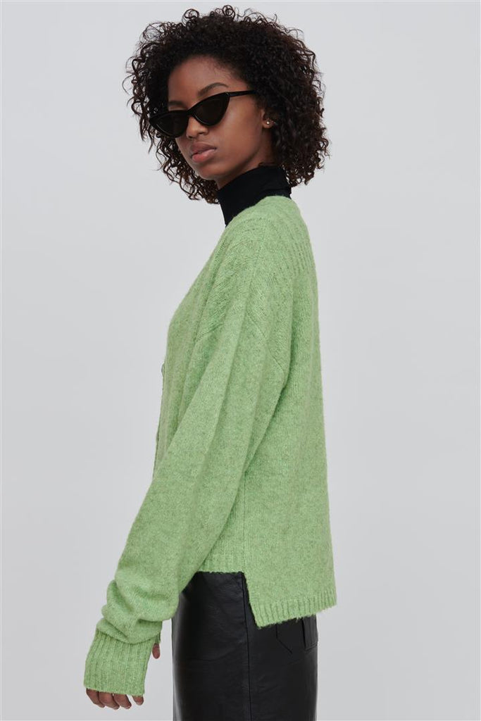 Zoe Green Wool Blend Sweater