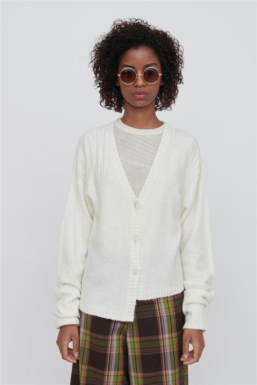Zoe Wool Blend Sweater White