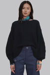 Black Wool Crew Neck Sweater - Fifi