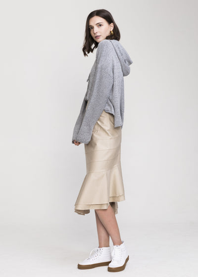Grey Cotton Hooded Sweater - Benson