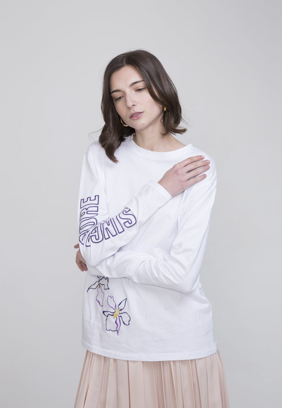 Riku White Cotton T Shirt