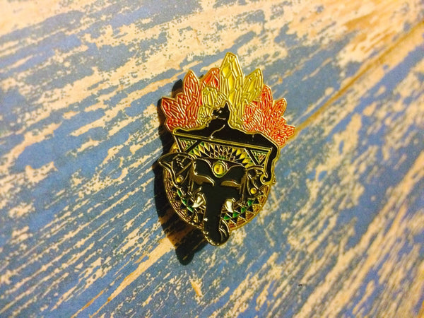 Enlightened Cats Under the Stars Pin