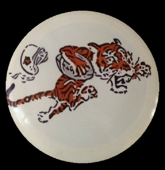 Custom Hand Dyed Disc For Disc Golf - Cincinnati Bengals Tiger Old School