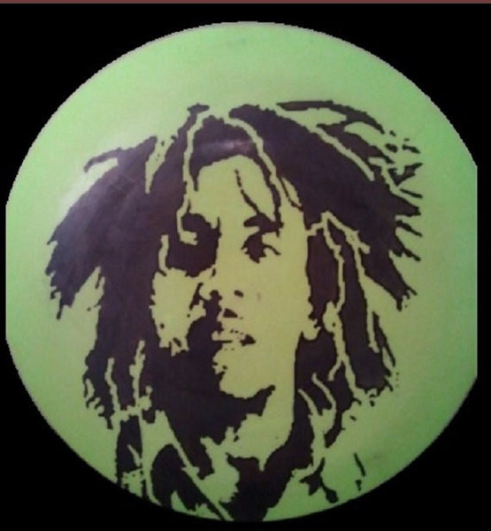 Custom Hand Dyed Disc For Disc Golf - Bob Marley Portrait