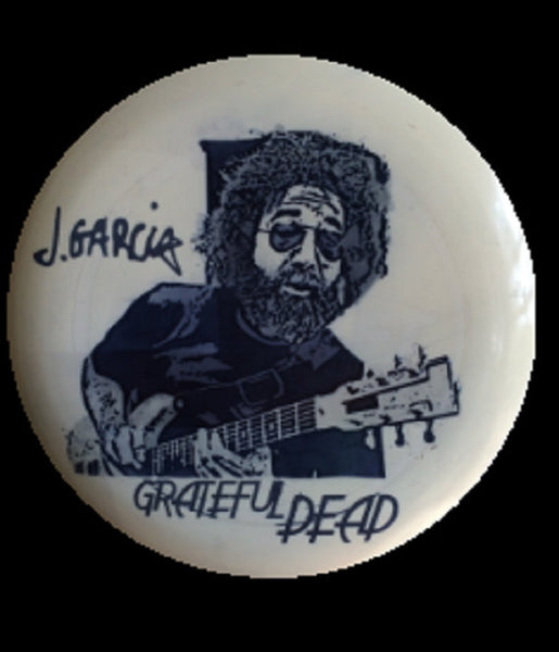 Custom Hand Dyed Disc For Disc Golf - Grateful Dead Jerry Garcia Guitar Signature