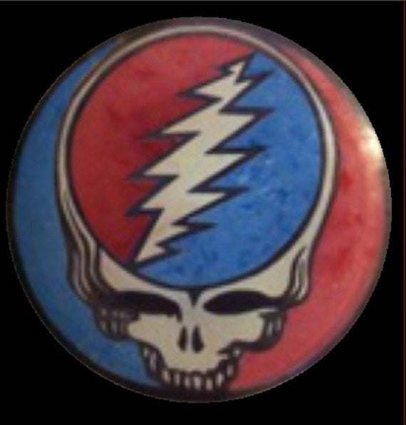 Custom Hand Dyed Disc For Disc Golf - Grateful Dead Steal Your Face