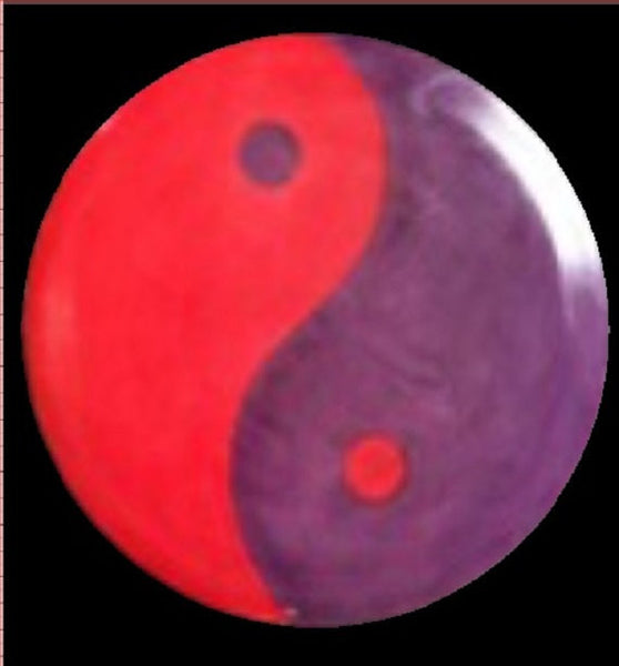 Custom Hand Dyed Disc For Disc Golf - Yin Yang