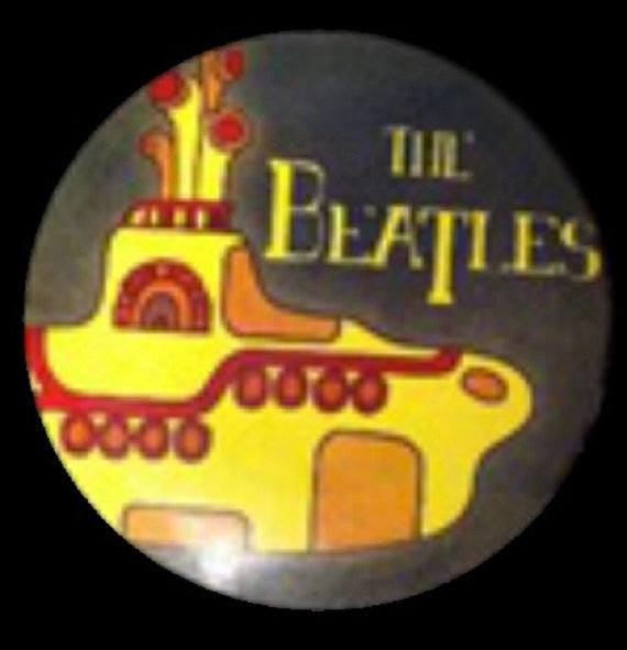 Custom Hand Dyed Disc For Disc Golf - The Beatles Yellow Submarine