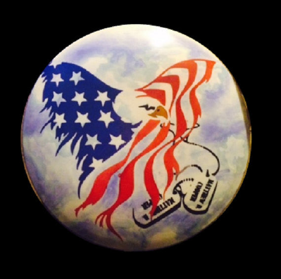 Custom Hand Dyed Disc For Disc Golf - Patriotic Eagle