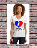 Grateful Heart Women's V-Neck Tee