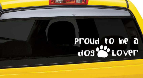 Proud To Be Dog Lover Decal