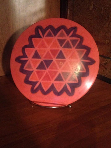 Custom Hand Dyed Disc For Disc Golf – Fractal