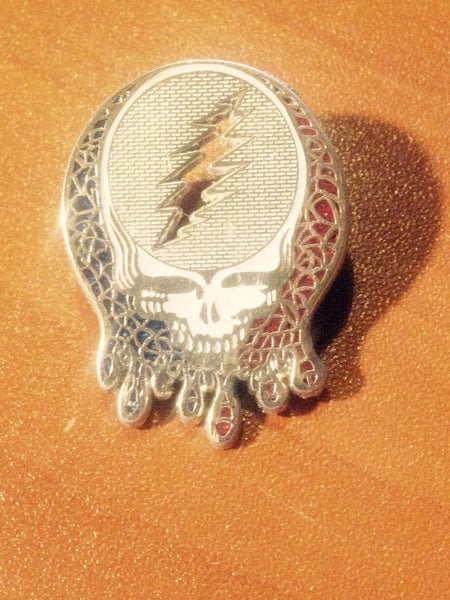 Grateful Dead Stealie Silver Hat Pin