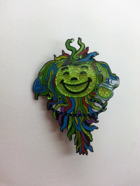 Hulaidfish Sparkle Green Hat Pin