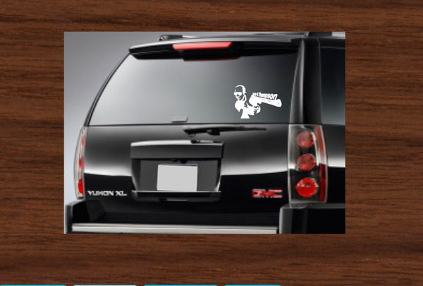 Hunter S Thompson Gun Car Decal
