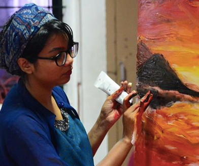 The Brush is mightier than the Pen: A story of Fathima Hakkim