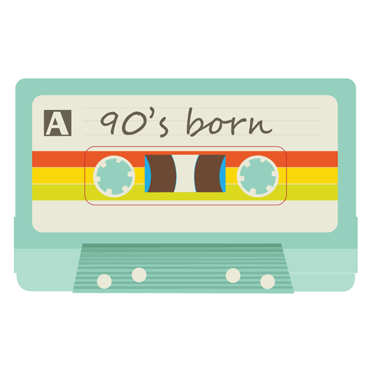 90's Born Sticker - MadCapPage