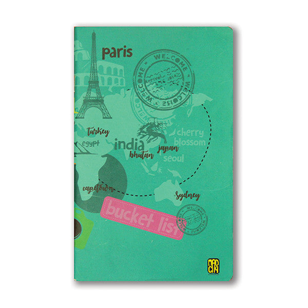 Wanderlust Jot Notebook - MadCap - For the Imperfect You !