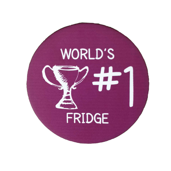 World's No.1 Fridge - Badge - MadCap - For the Imperfect You !