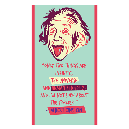 Albert Einstein Sticker - MadCap - For the Imperfect You !