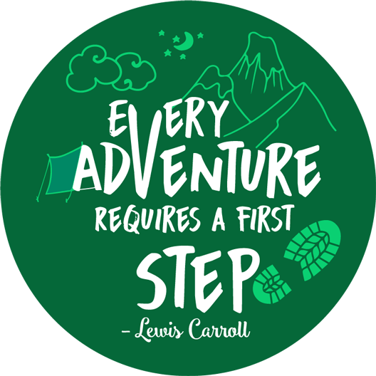 Every Adventure Requires A First Step Sticker - MadCapPage