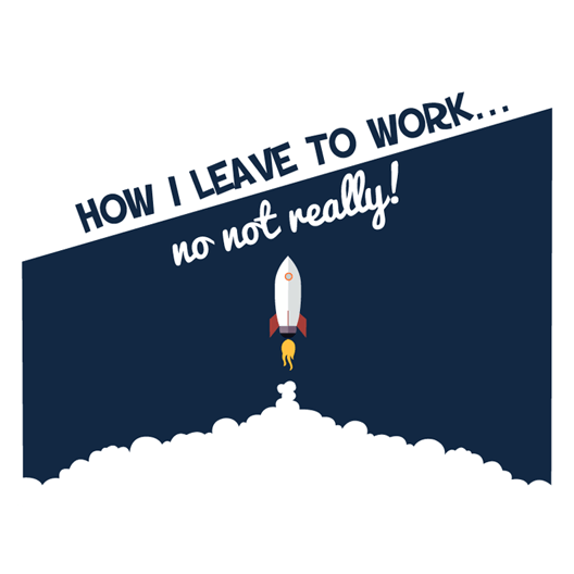 How I Leave For Work Sticker - MadCapPage