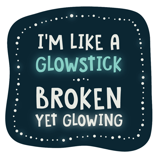 I'm Like A Glowstick Sticker - MadCapPage