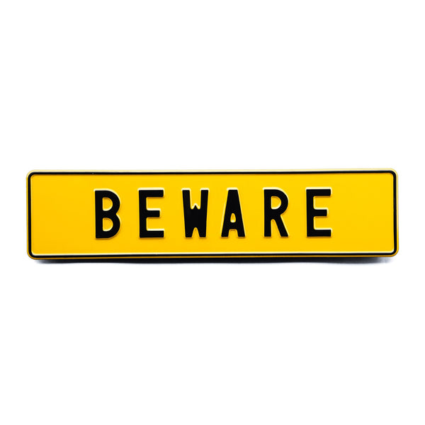 BEWARE - Attitude Plates - MadCap - For the Imperfect You !