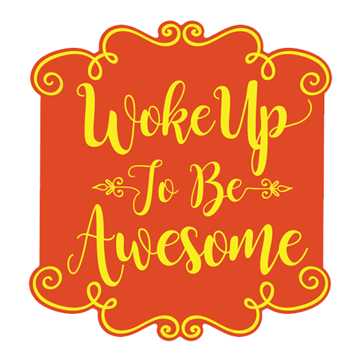 Woke Up To Be Awesome Sticker - MadCapPage