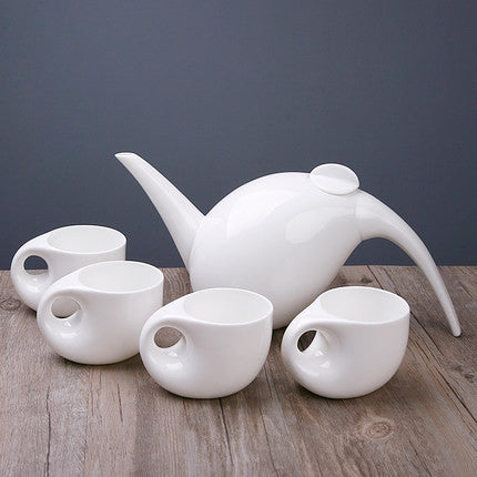Creative Edition - Tribal White Tea Cup and Pot-Innodie-White-Innodie