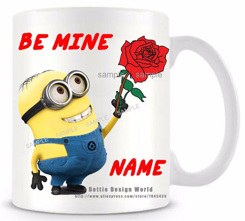HeartToHeart Edition - Personalised Minion Proposal Coffee Mug-Innodie-Innodie