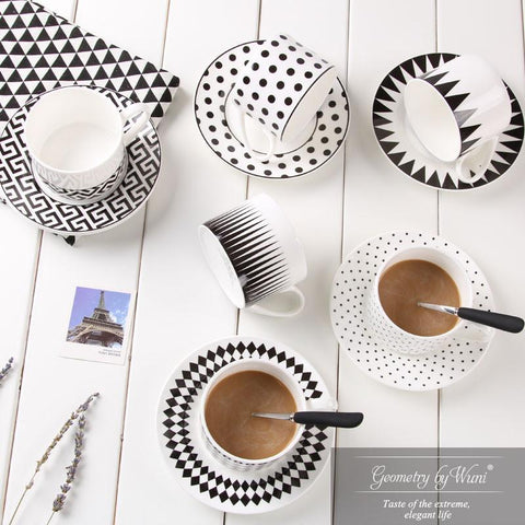 Designer Edition - Nordic Black and White Tea Cup-Innodie-Innodie