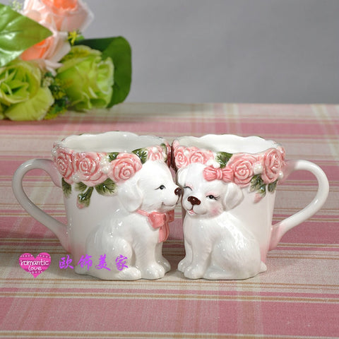 HeartToHeart Edition - 3D Puppy Couple Tea Cup-Innodie-Innodie