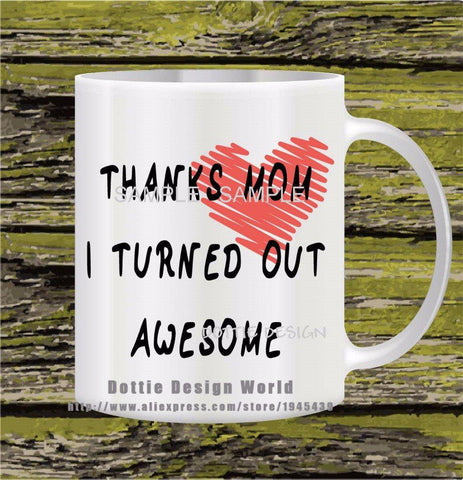HeartToHeart Edition - Awesome Mom Awesome Daughter Coffee Mug-Innodie-Innodie