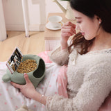 Creative Double Deck Snack Bowl with Phone Holder-Foodies Edition-Innodie-Innodie