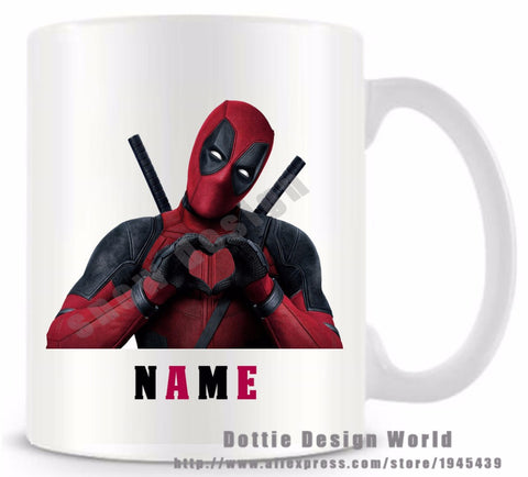 Youth Edition - Personalised Deadpool Love Coffee Mugs-Innodie-Innodie