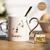 Zodiac Constellation Coffee Mug - White-Ethnic Edition-Innodie-Scorpio-Innodie