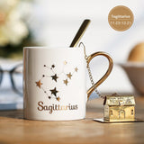 Zodiac Constellation Coffee Mug - White-Ethnic Edition-Innodie-Sagittarius-Innodie