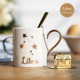 Zodiac Constellation Coffee Mug - White-Ethnic Edition-Innodie-Libra-Innodie