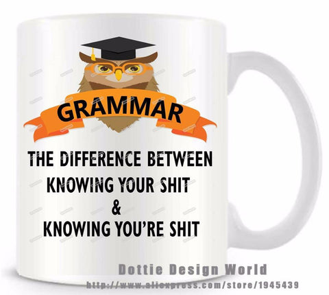 Youth Edition - The Grammar Cat Coffee Mug-kitty cat coffee mug-Innodie-Innodie