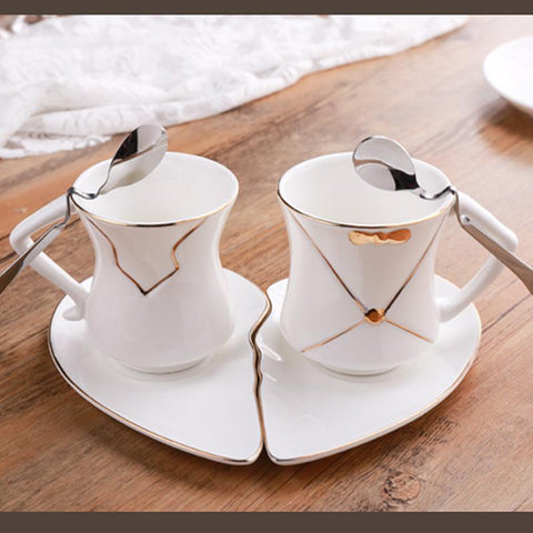 HeartToHeart Edition - Valentine's Gift Coffee/Tea Cup-Innodie-Two cup-Innodie