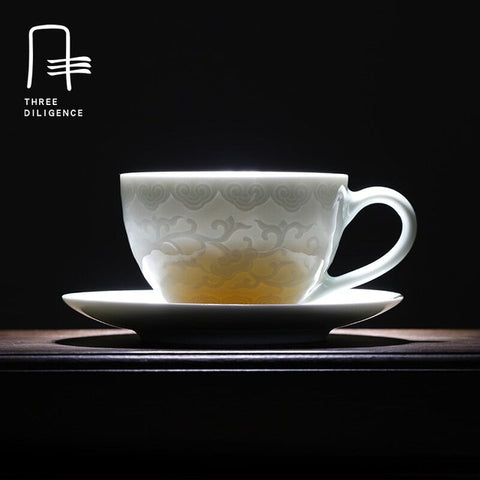 Designer Edition - Shadow Blue Glaze Tea Cup-Innodie-Innodie