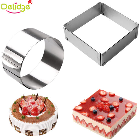 Adjustable Round & Square Shape Cake Molds 2pcs/Set-Chef Edition-Innodie-Innodie